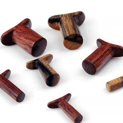 Round Wood Labrets