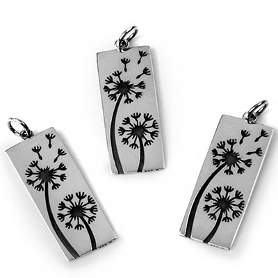 Silver Dandelion Pendant
