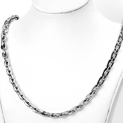 Stainless Steel Double Link Rectangle Chain