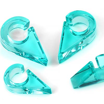 Solid Color Triangle Weights in Turquoise