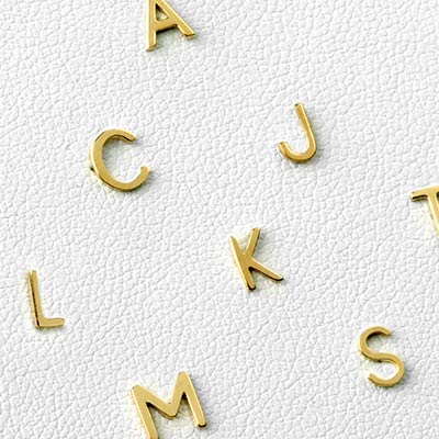 14K Gold Alphabet Threadless Ends