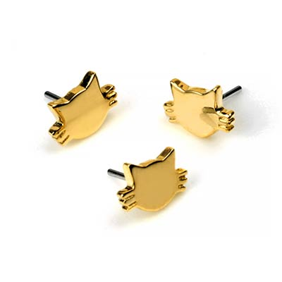 14K Gold Kitty Threadless Ends