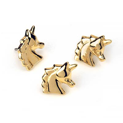 14K Gold Unicorn Threadless Ends