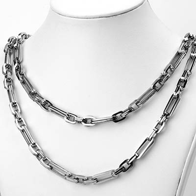 Stainless Steel Double Link Alternating Cable Chain