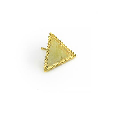 14k Gold Asteroid Threadless Ends