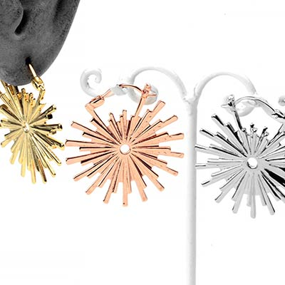 Gold Plated Galaxy Earrings