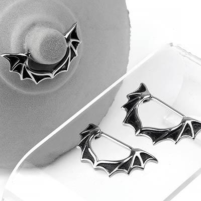 Steel Bat Wing Nipple Clicker