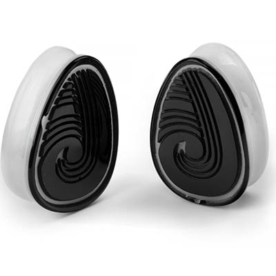 Glass Maori Teardrop Plugs