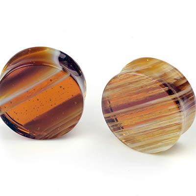 Linear Glass Plugs (Amber)
