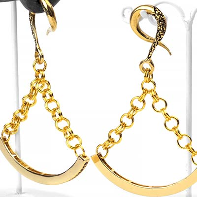 Solid Brass Swing Weights with Black CZ