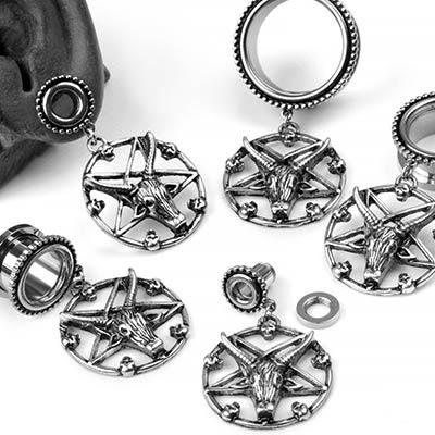 Steel Baphomet Eyelets