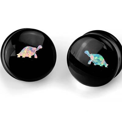 Glass Tortoise Opal Plug