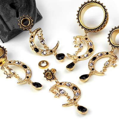 Golden Moon Dangle Eyelets