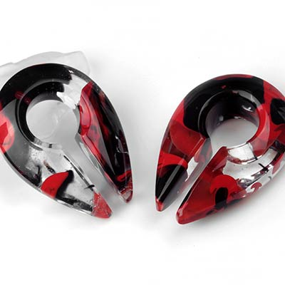 Glass Power Keyhole Weights | Red and Black