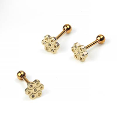 Gemmed Honeycomb Barbell
