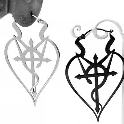 Steel Crux Serpentine Hoops