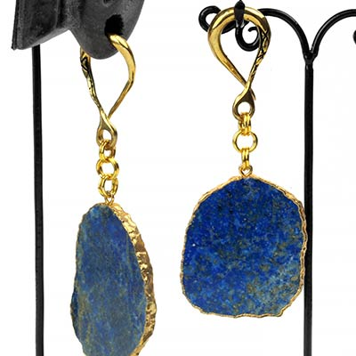 Solid Brass Dangle Weights with Lapis