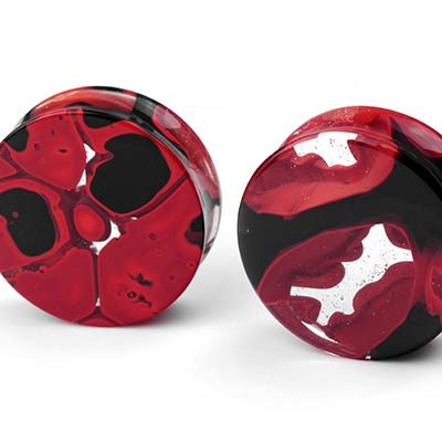 Glass Power Plugs | Red and Black