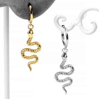 Winding Serpent Huggie Earring