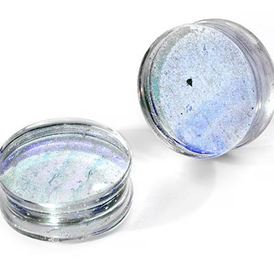 Glass Dichroic Plugs | Green and Blue