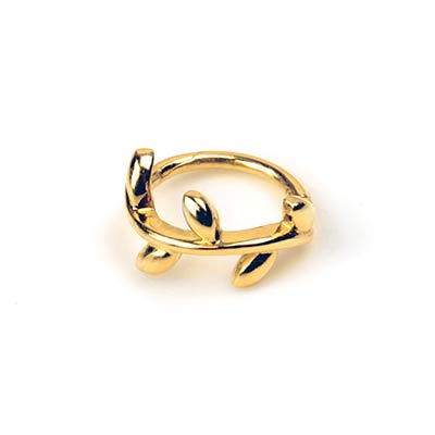 14K Gold Side Set Ivy Clicker