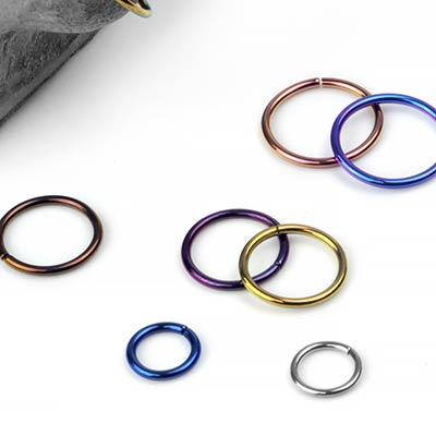 Titanium Seamless Rings