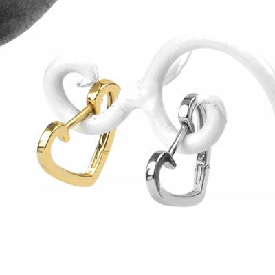 Heart Huggie Earring