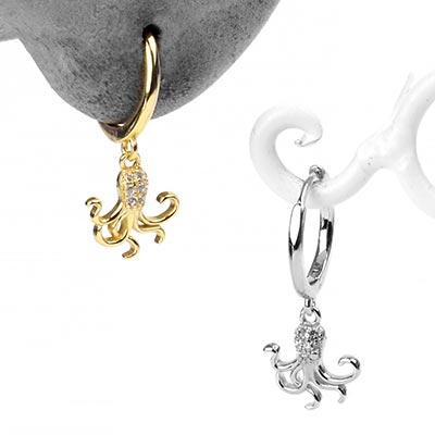 Octopus Huggie Earring