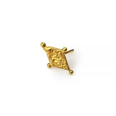 14k Gold Harlequin Threadless End
