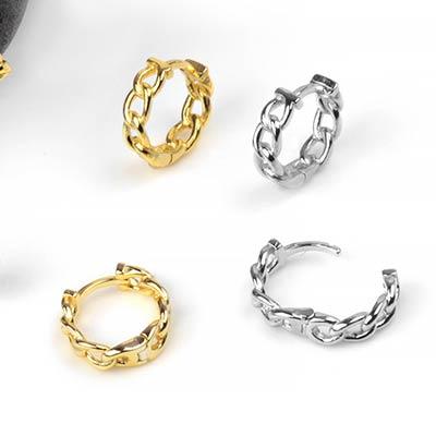 Chain Link Huggie Earring