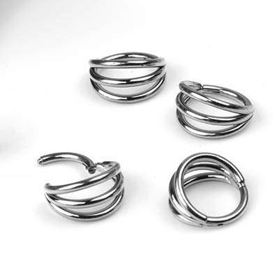 Titanium Three Ring Side Clicker