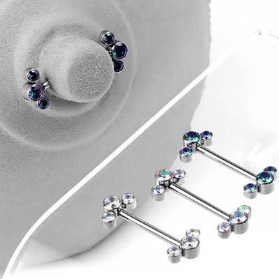 Titanium Cluster Nipple Barbells