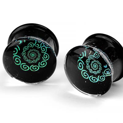 Glass Snaking Spiral Dichro Image Plugs