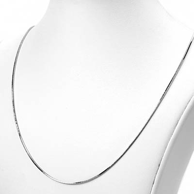 Diamond Cut Snake Necklace Chain