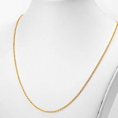 Golden Flat Cable Necklace Chain