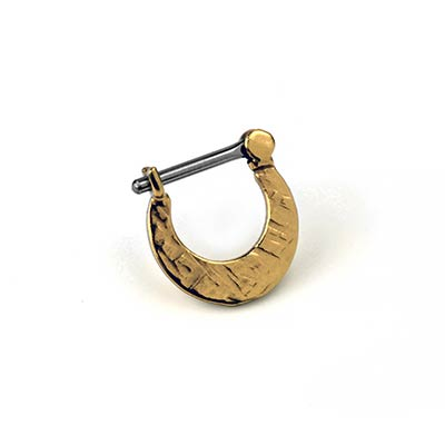 14k Gold Plated Crosshatched Blade Clicker