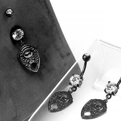 Black Planchette Navel