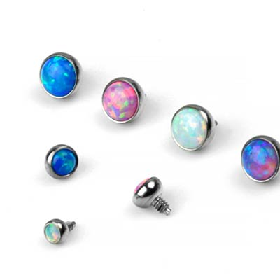 Titanium Internally Threaded Opal Ends