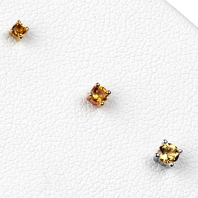 Solid 14k Gold Prong Set Citrine Threadless End