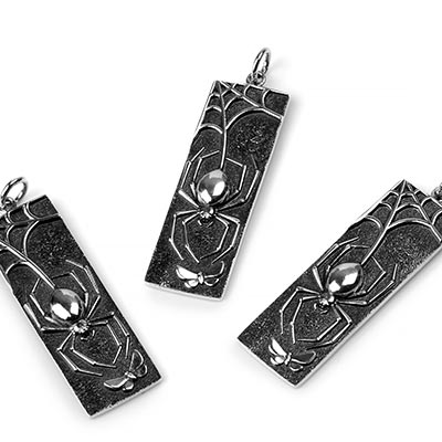 Silver Black Widow Pendant