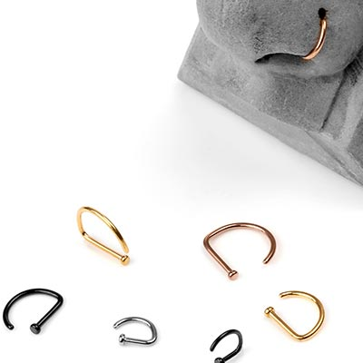Titanium D Shape Nose Ring