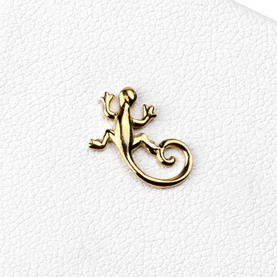14K Gold Gecko Threadless Ends