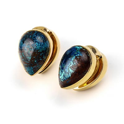 Solid Brass Spade Weights with Chrysacola
