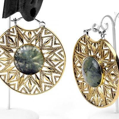 Brass Essence Isis Clasp Design with Prehnite