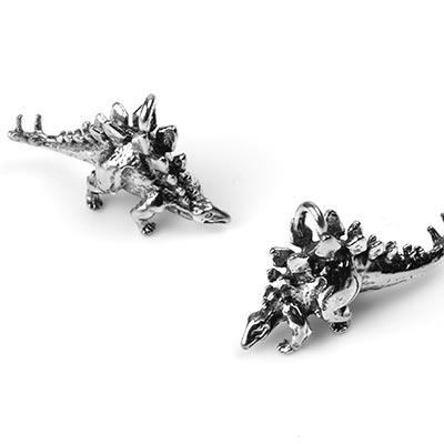 Silver Stegosaurus Pendant