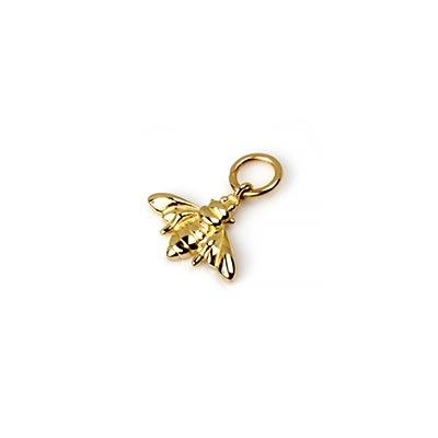 14K Gold Bee Dangle Charm