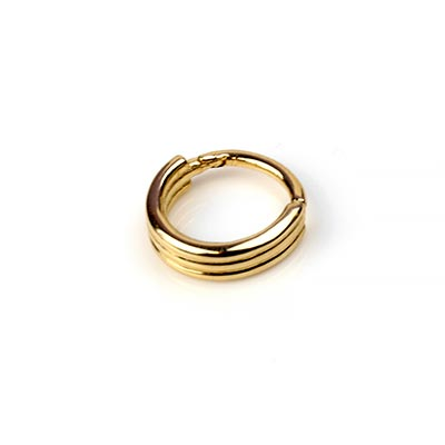 14K Gold Three Ring Clicker