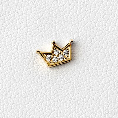 14k Gemmed Crown Threadless End