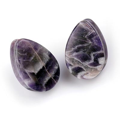 Teardrop Amethyst Plugs