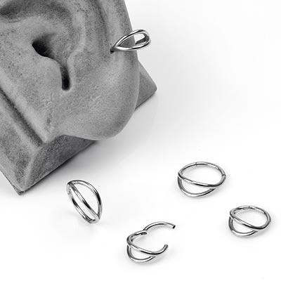 Steel Dual Ring Clicker Ring
